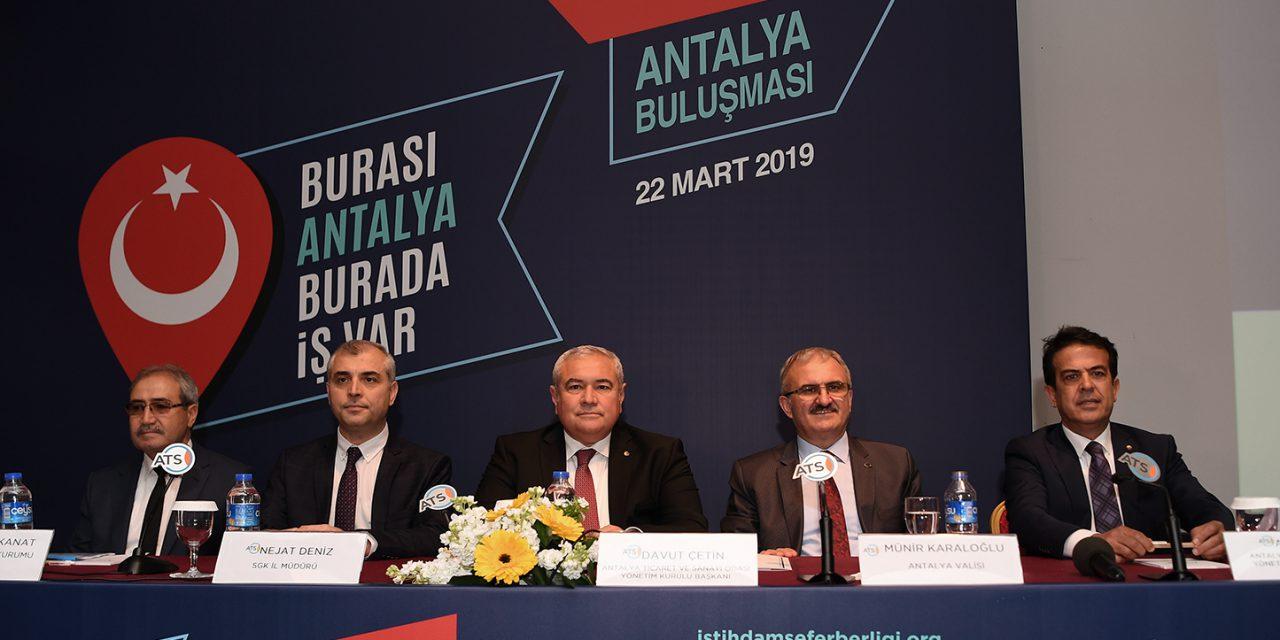 Antalya'dan 150 Bin Yeni İstihdam Sözü