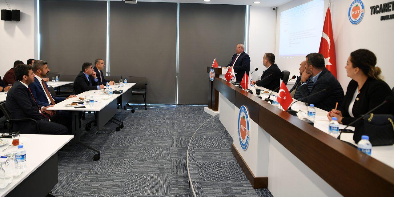 ATSO Yönetimi, Kumluca TSO Meclisi'ne Konuk Oldu