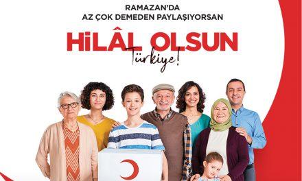 """Kızılay'dan """"Hilal Olsun Türkiye"""" Kampanyası"""