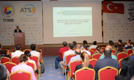 ATSO üyeleri 'Kişisel Verilerin Korunması' hakkında bilgilendirildi