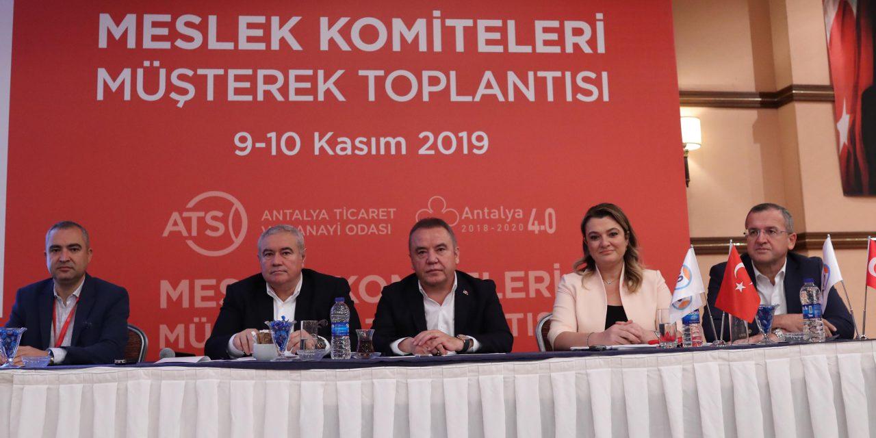 Başkan Böcek ATSO Meslek Komitelerini Dinledi