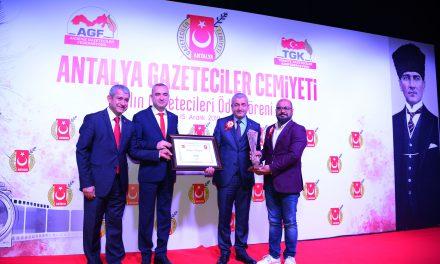 AGC'den ATSO'ya Yılın Kurumu Ödülü