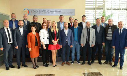 ATSO, Uşak TSO Meslek Komitesi Başkanlarını Konuk Etti