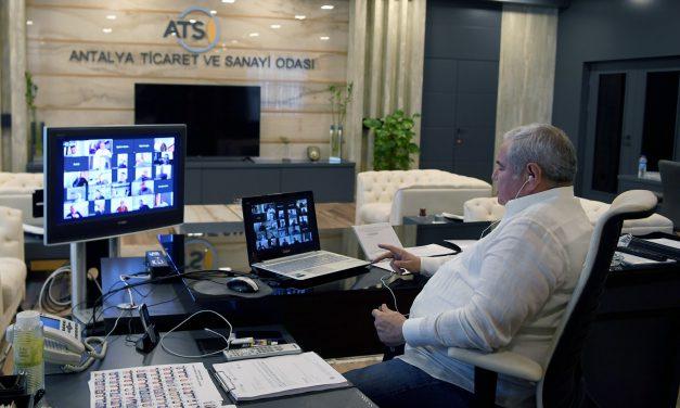 ATSO Mart ve Nisan Ayı Meclisi Elektronik Ortamda Yapıldı