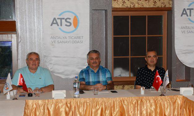 Antalya Valisi Ersin Yazıcı, ATSO Yönetimi'nin Konuğu Oldu