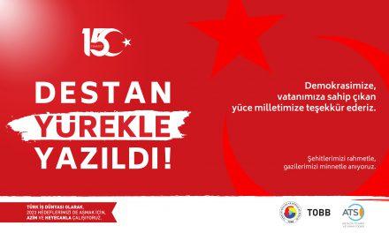 ATSO Başkanı Çetin'den 15 Temmuz Mesajı