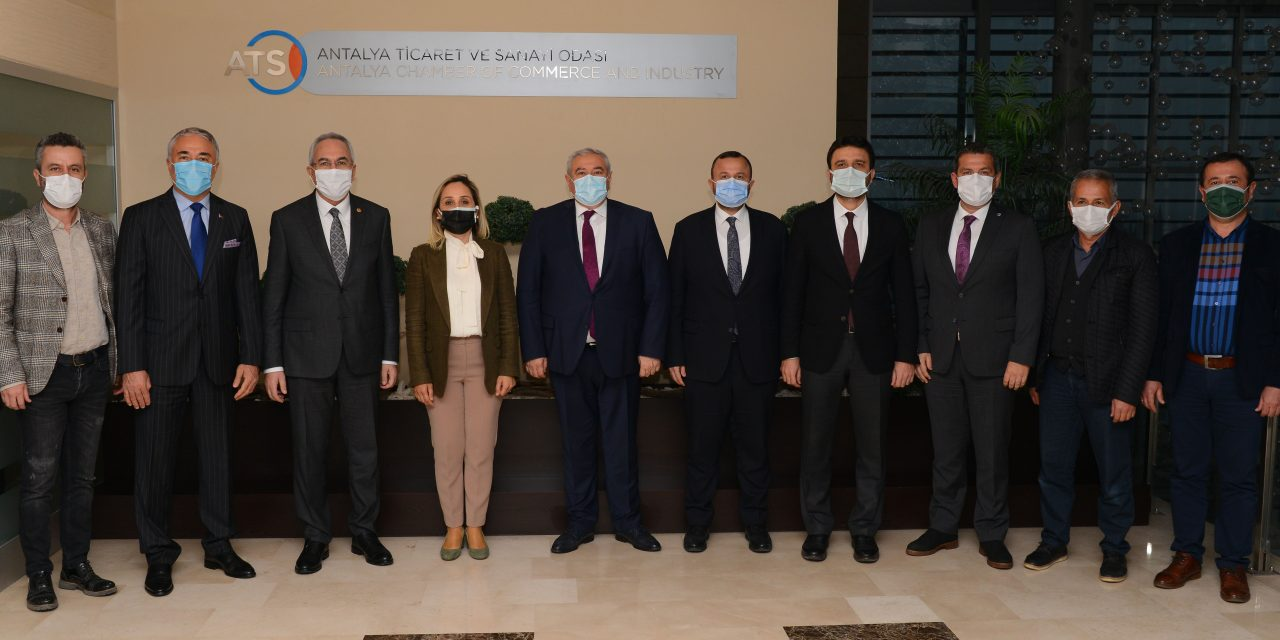 AK Partili Vekiller ATSO'yu Ziyaret Etti