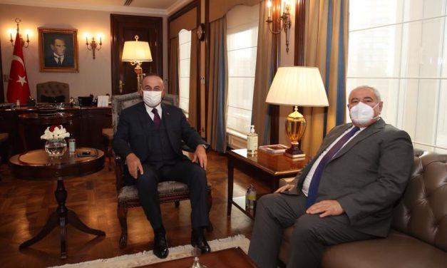 Başkan Davut Çetin, Bakan Çavuşoğlu'nu ziyaret etti