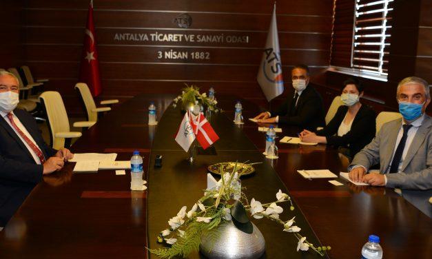 Danimarka Büyükelçisi Danny Annan ATSO'yu ziyaret etti