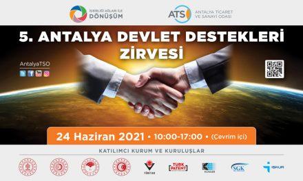 ATSO'DAN 5. DEVLET DESTEKLERİ ZİRVESİ