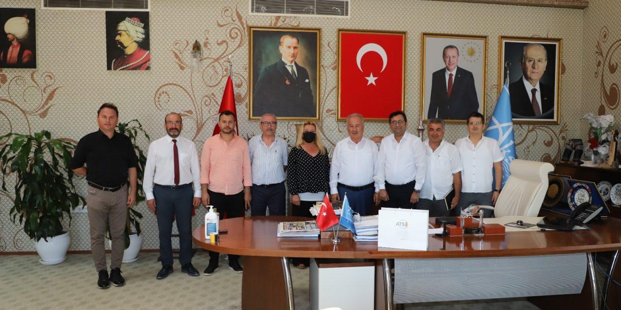 ATSO 46. Grup, Aksu Belediye Başkanı Halil Şahin'i ziyaret etti